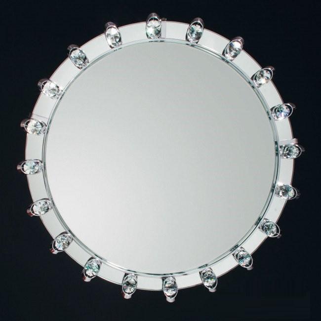 Oglinda eleganta decorata cu cristale Lauro crom, 47cm 13K/605.02.014 chrom OR, Oglinzi decorative, Corpuri de iluminat, lustre, aplice, veioze, lampadare, plafoniere. Mobilier si decoratiuni, oglinzi, scaune, fotolii. Oferte speciale iluminat interior si exterior. Livram in toata tara.  a