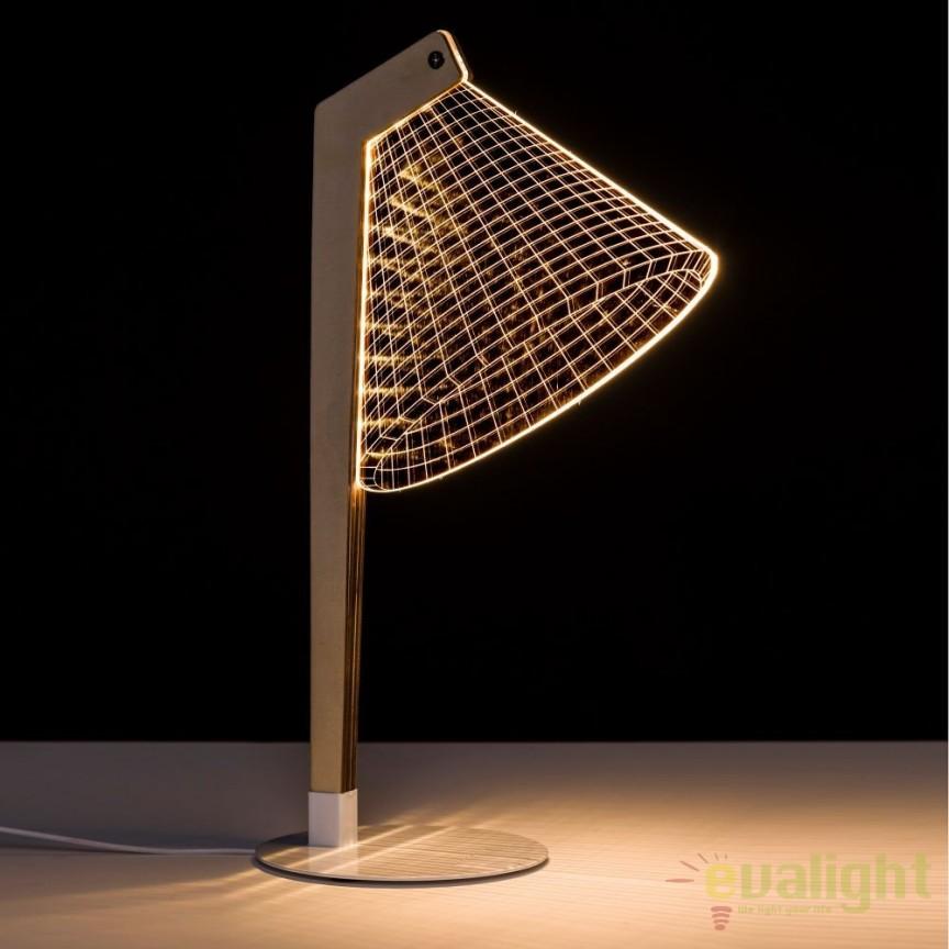 Veioza design modern LED ORO-BLANCO SX-104137, Veioze, Lampi de masa, Corpuri de iluminat, lustre, aplice, veioze, lampadare, plafoniere. Mobilier si decoratiuni, oglinzi, scaune, fotolii. Oferte speciale iluminat interior si exterior. Livram in toata tara.  a