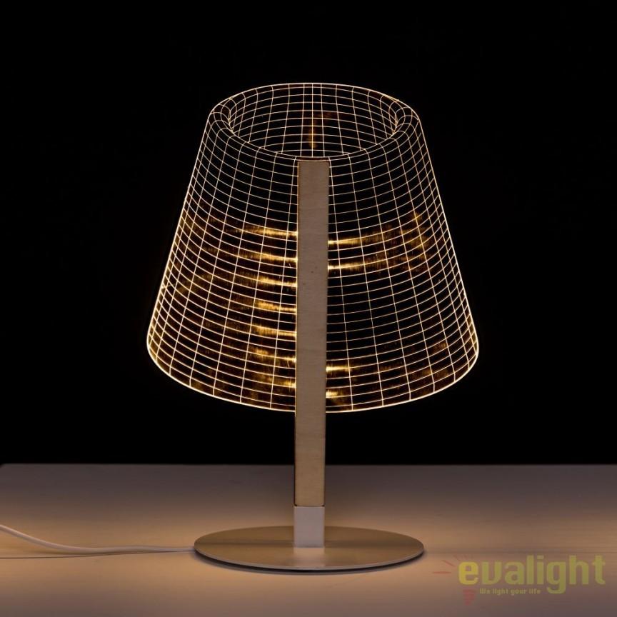 Veioza design modern LED ORO-BLANCO SX-104138, Veioze, Lampi de masa, Corpuri de iluminat, lustre, aplice, veioze, lampadare, plafoniere. Mobilier si decoratiuni, oglinzi, scaune, fotolii. Oferte speciale iluminat interior si exterior. Livram in toata tara.  a