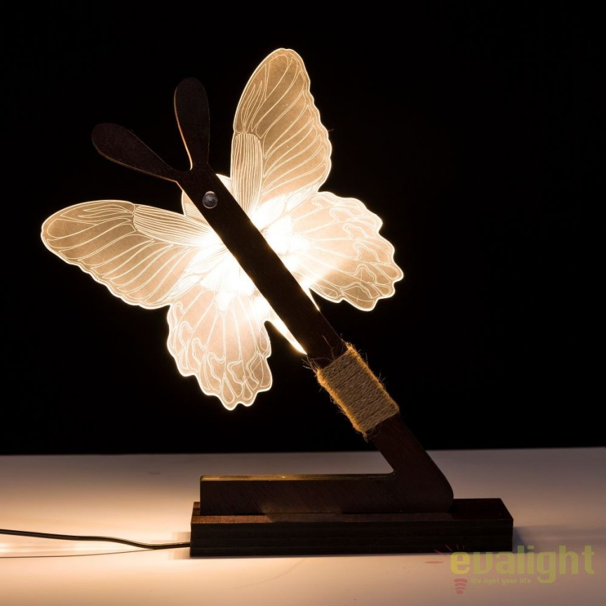 Veioza design modern LED, MDF Maro SX-104145, Lustre - Iluminat pentru camera Copii, Corpuri de iluminat, lustre, aplice, veioze, lampadare, plafoniere. Mobilier si decoratiuni, oglinzi, scaune, fotolii. Oferte speciale iluminat interior si exterior. Livram in toata tara.  a