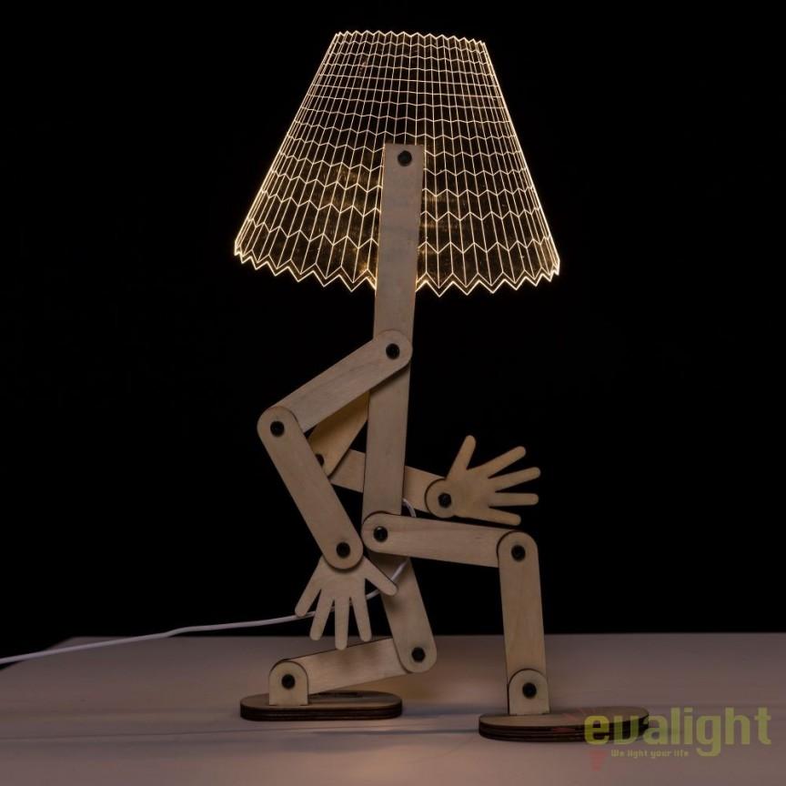 Veioza design modern LED, MDF Natur SX-104147, Lustre - Iluminat pentru camera Copii, Corpuri de iluminat, lustre, aplice, veioze, lampadare, plafoniere. Mobilier si decoratiuni, oglinzi, scaune, fotolii. Oferte speciale iluminat interior si exterior. Livram in toata tara.  a