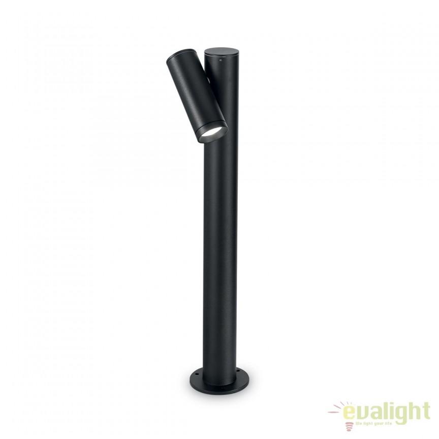 Stalp LED iluminat exterior design modern NEOS PT1 negru 161921, Stalpi de iluminat exterior mici si medii , Corpuri de iluminat, lustre, aplice, veioze, lampadare, plafoniere. Mobilier si decoratiuni, oglinzi, scaune, fotolii. Oferte speciale iluminat interior si exterior. Livram in toata tara.  a