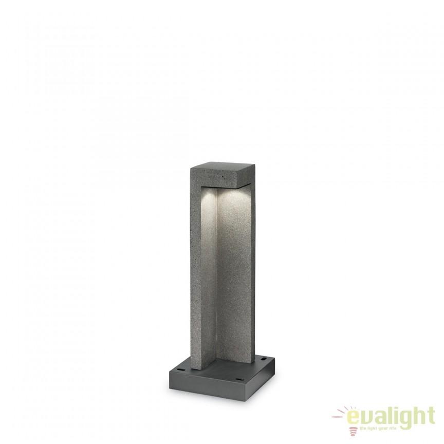 Stalp LED exterior design modern TITANO PT1 SMALL granit  157856, Stalpi de iluminat exterior mici si medii , Corpuri de iluminat, lustre, aplice, veioze, lampadare, plafoniere. Mobilier si decoratiuni, oglinzi, scaune, fotolii. Oferte speciale iluminat interior si exterior. Livram in toata tara.  a