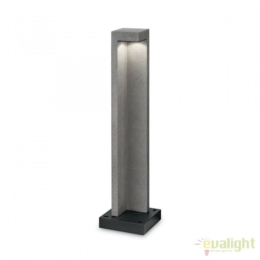 Stalp LED exterior design modern TITANO PT1 BIG granit 187327, Stalpi de iluminat exterior mici si medii , Corpuri de iluminat, lustre, aplice, veioze, lampadare, plafoniere. Mobilier si decoratiuni, oglinzi, scaune, fotolii. Oferte speciale iluminat interior si exterior. Livram in toata tara.  a