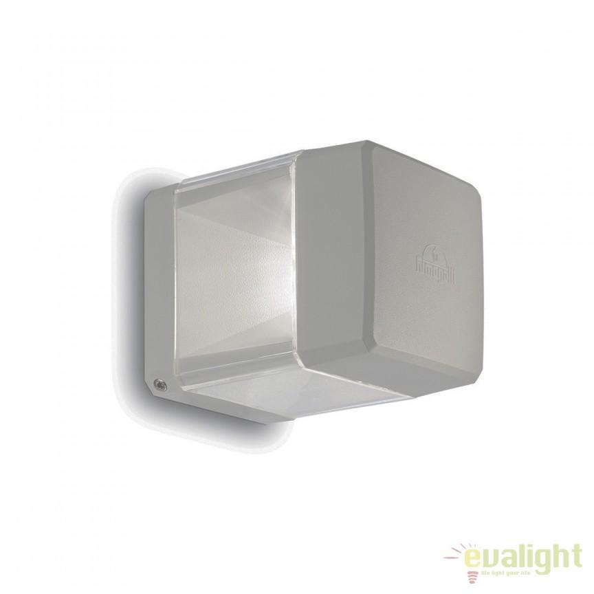 Aplica LED perete exterior design modern ELISA AP1 gri 187853, Stalpi de iluminat exterior mici si medii , Corpuri de iluminat, lustre, aplice, veioze, lampadare, plafoniere. Mobilier si decoratiuni, oglinzi, scaune, fotolii. Oferte speciale iluminat interior si exterior. Livram in toata tara.  a