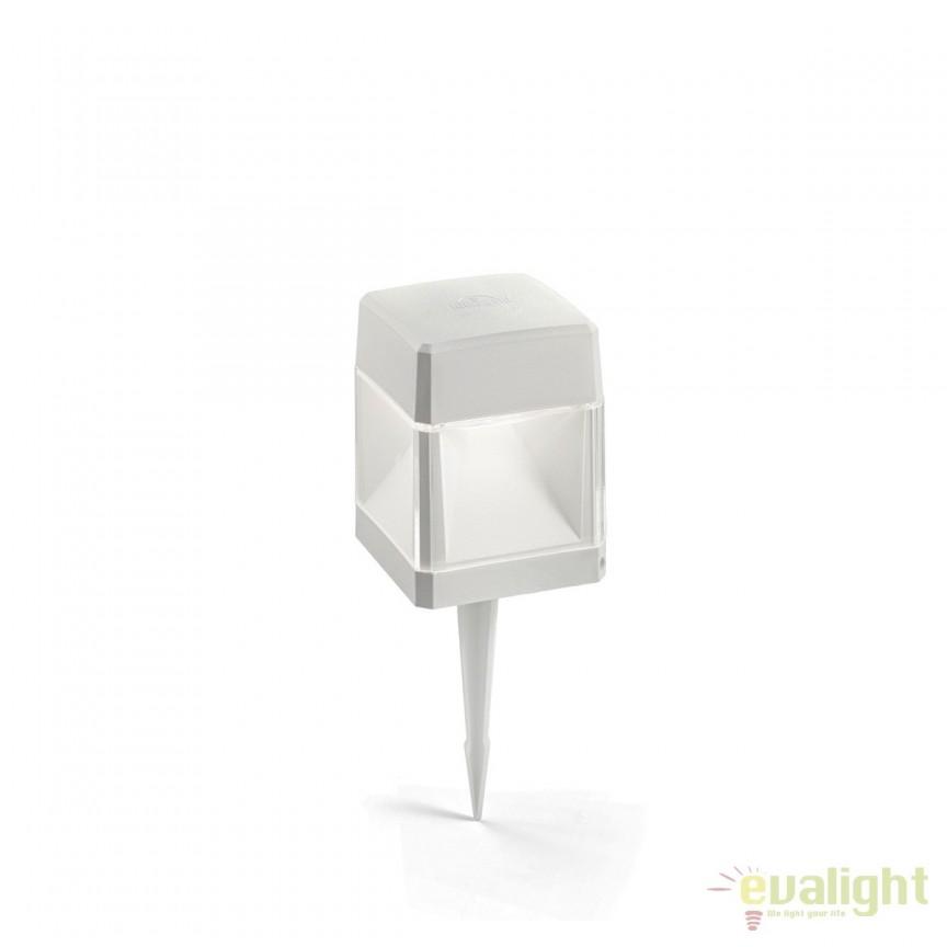 Stalp LED iluminat exterior design modern ELISA PT1 SMALL alb 187907, Stalpi de iluminat exterior mici si medii , Corpuri de iluminat, lustre, aplice, veioze, lampadare, plafoniere. Mobilier si decoratiuni, oglinzi, scaune, fotolii. Oferte speciale iluminat interior si exterior. Livram in toata tara.  a