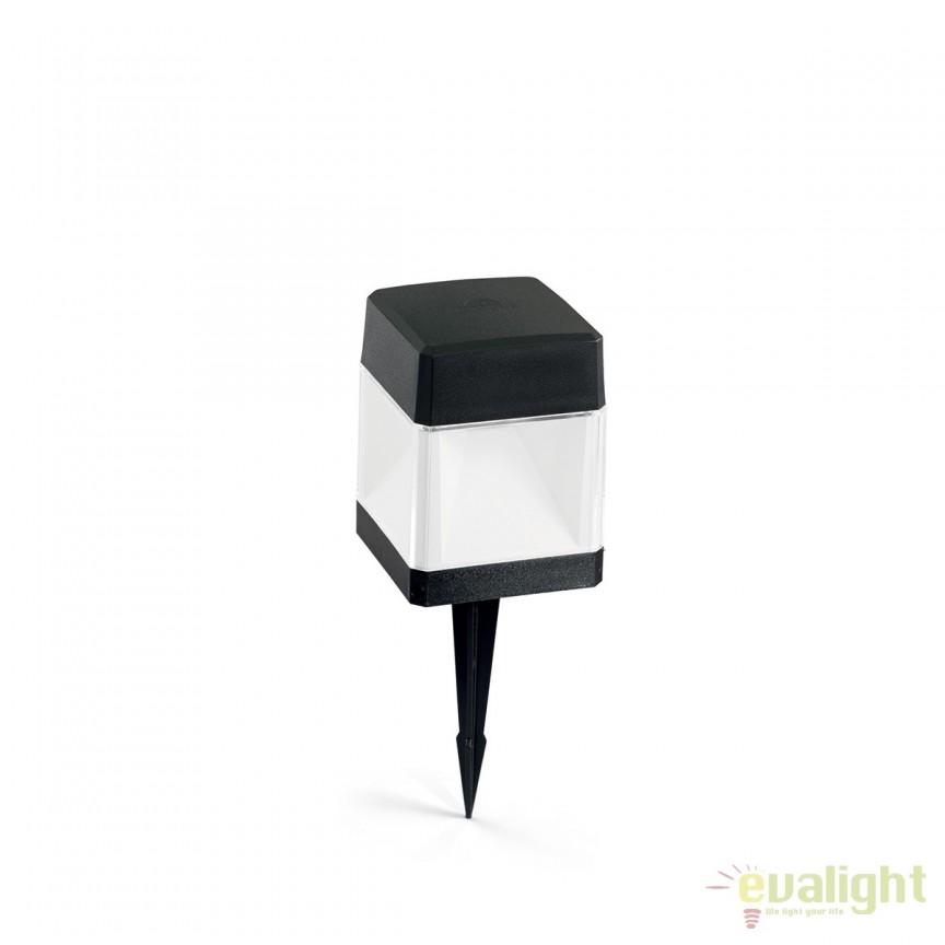 Stalp LED iluminat exterior design modern ELISA PT1 SMALL negru 187921, Stalpi de iluminat exterior mici si medii , Corpuri de iluminat, lustre, aplice, veioze, lampadare, plafoniere. Mobilier si decoratiuni, oglinzi, scaune, fotolii. Oferte speciale iluminat interior si exterior. Livram in toata tara.  a