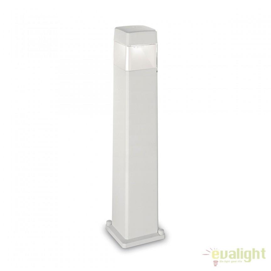 Stalp LED iluminat exterior design modern ELISA PT1 BIG alb 187877, Stalpi de iluminat exterior mici si medii , Corpuri de iluminat, lustre, aplice, veioze, lampadare, plafoniere. Mobilier si decoratiuni, oglinzi, scaune, fotolii. Oferte speciale iluminat interior si exterior. Livram in toata tara.  a
