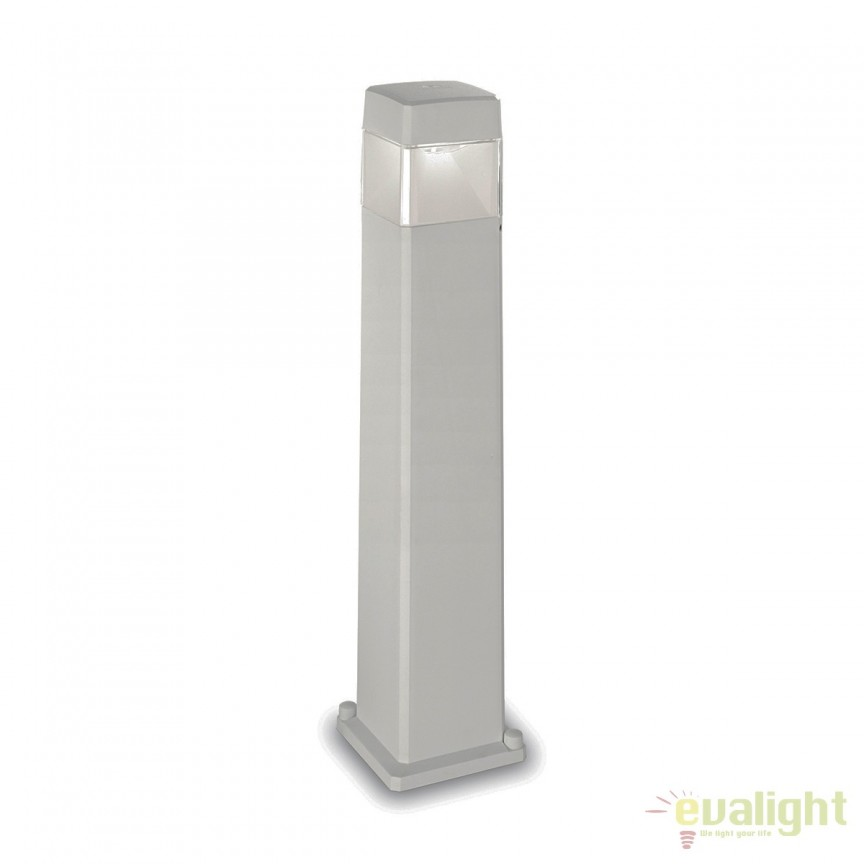 Stalp LED iluminat exterior design modern ELISA PT1 BIG gri 187884, Stalpi de iluminat exterior mici si medii , Corpuri de iluminat, lustre, aplice, veioze, lampadare, plafoniere. Mobilier si decoratiuni, oglinzi, scaune, fotolii. Oferte speciale iluminat interior si exterior. Livram in toata tara.  a