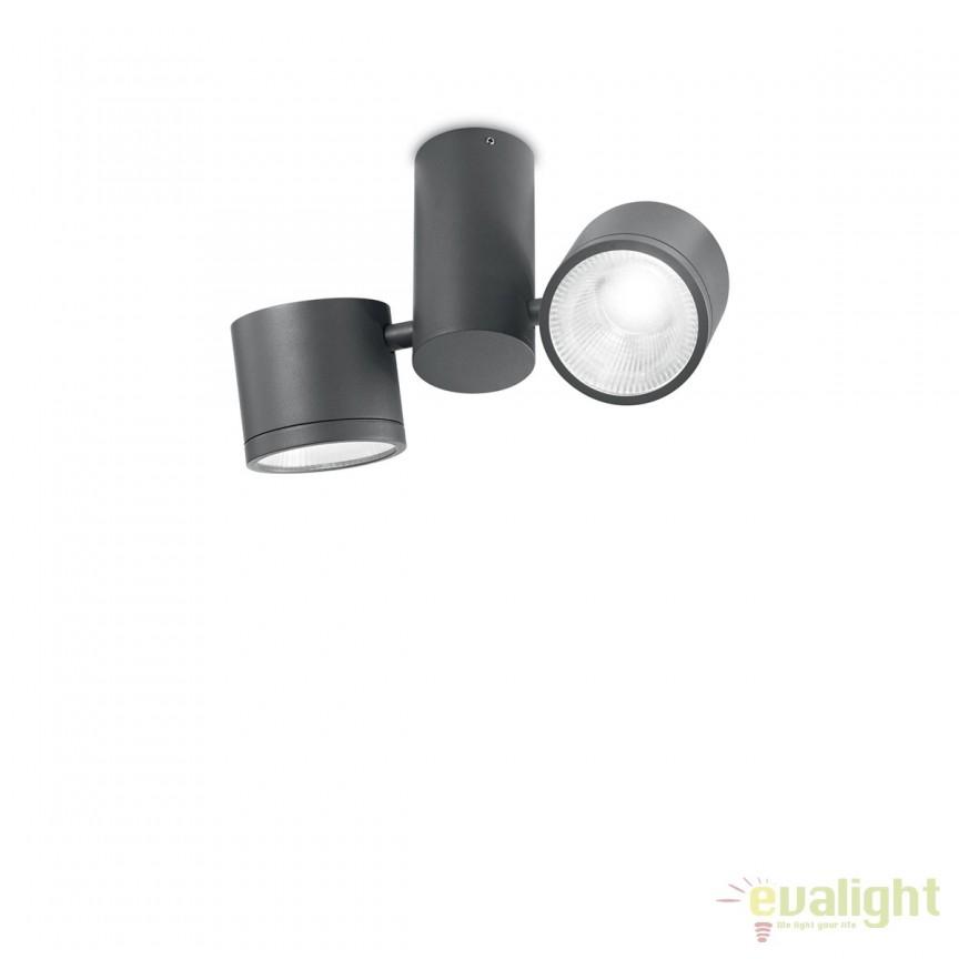 Plafoniera LED exterior design modern SUNGLASSES PL2 antracit 161846, Plafoniere de exterior, Corpuri de iluminat, lustre, aplice, veioze, lampadare, plafoniere. Mobilier si decoratiuni, oglinzi, scaune, fotolii. Oferte speciale iluminat interior si exterior. Livram in toata tara.  a