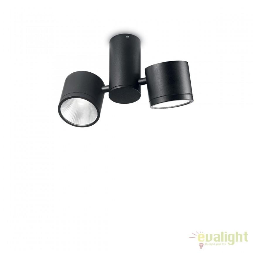 Plafoniera LED exterior design modern SUNGLASSES PL2 negru 161860, Plafoniere de exterior, Corpuri de iluminat, lustre, aplice, veioze, lampadare, plafoniere. Mobilier si decoratiuni, oglinzi, scaune, fotolii. Oferte speciale iluminat interior si exterior. Livram in toata tara.  a