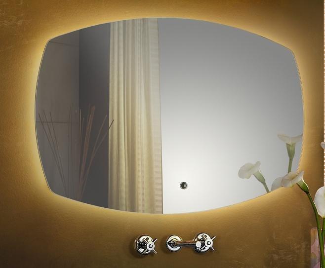Oglinda pentru baie cu iluminat LED, IP44, comutator tactil, dim.55x88cm, Leda 627321, Oglinzi pentru baie, Corpuri de iluminat, lustre, aplice a