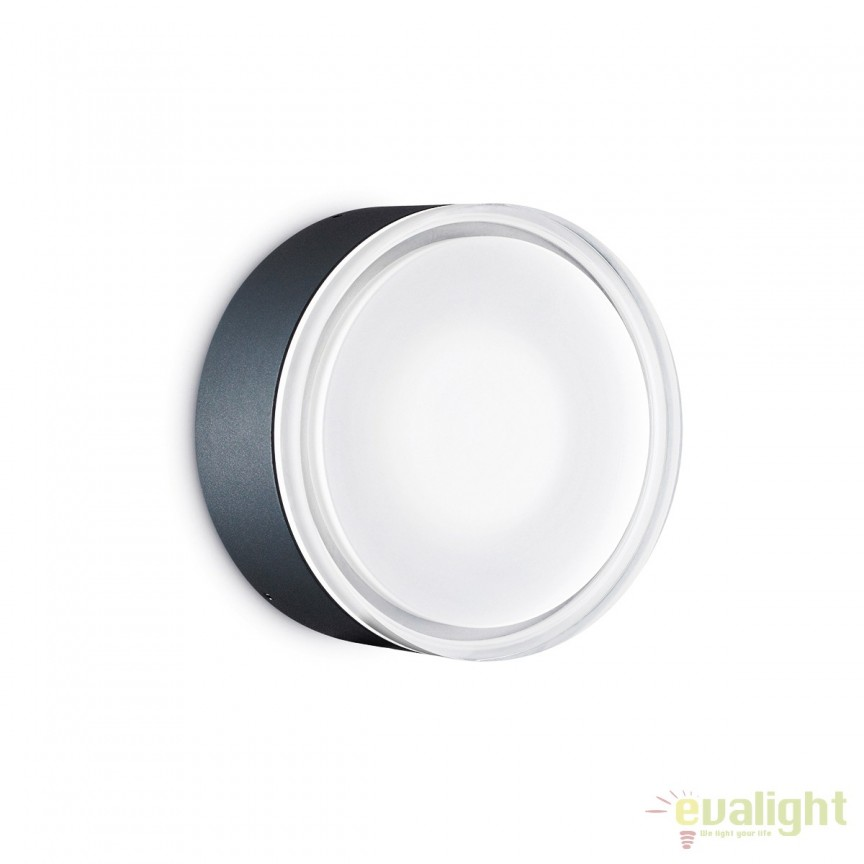 Aplica / Plafoniera de exterior stil modern minimalist URANO PL1 BIG neagra 168098, Aplice de perete simple, Corpuri de iluminat, lustre, aplice, veioze, lampadare, plafoniere. Mobilier si decoratiuni, oglinzi, scaune, fotolii. Oferte speciale iluminat interior si exterior. Livram in toata tara.  a