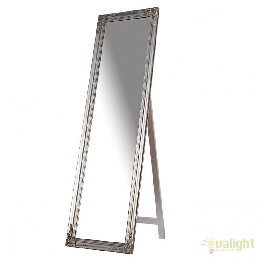 Oglinda de podea eleganta, decorativa Versailles, argintie A-35743 VC, Oglinzi decorative, Corpuri de iluminat, lustre, aplice, veioze, lampadare, plafoniere. Mobilier si decoratiuni, oglinzi, scaune, fotolii. Oferte speciale iluminat interior si exterior. Livram in toata tara.  a