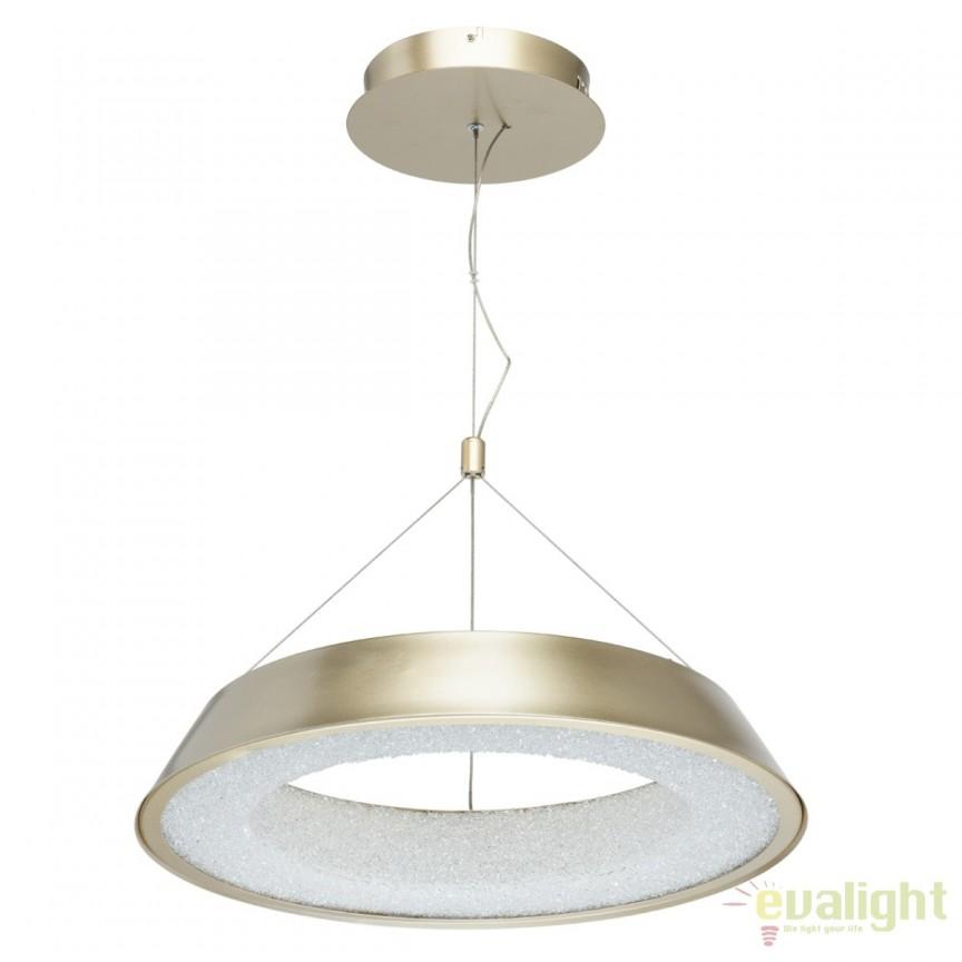 Pendul LED design moden Volker 50cm, auriu mat 703010801 MW, Lustre LED, Pendule LED, Corpuri de iluminat, lustre, aplice, veioze, lampadare, plafoniere. Mobilier si decoratiuni, oglinzi, scaune, fotolii. Oferte speciale iluminat interior si exterior. Livram in toata tara.  a