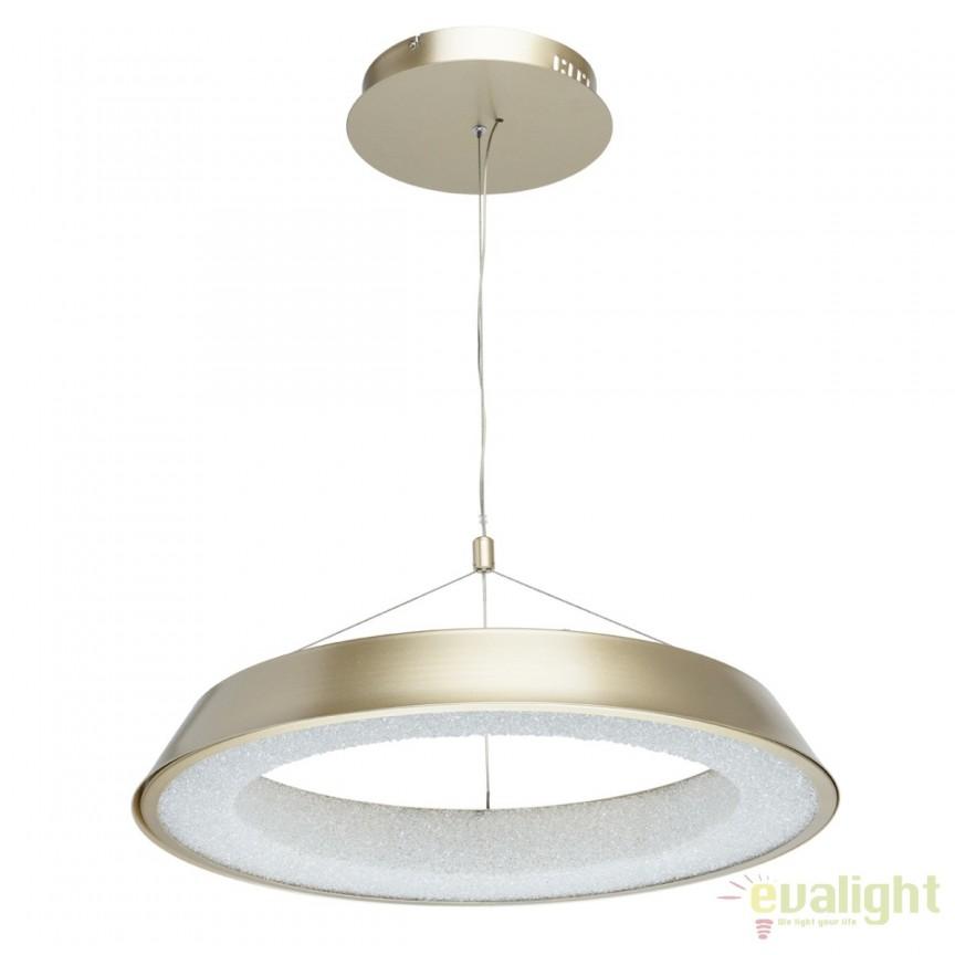 Pendul LED design moden Volker 60cm, auriu mat 703011001 MW, Lustre LED, Pendule LED, Corpuri de iluminat, lustre, aplice, veioze, lampadare, plafoniere. Mobilier si decoratiuni, oglinzi, scaune, fotolii. Oferte speciale iluminat interior si exterior. Livram in toata tara.  a