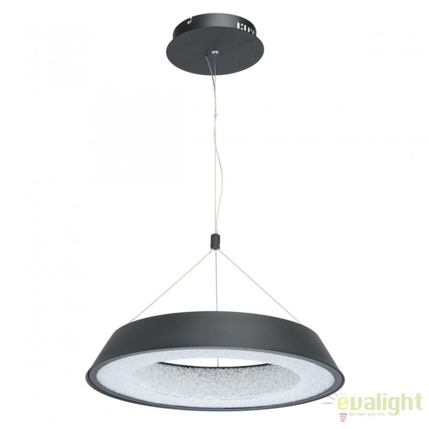 Pendul LED design moden Volker 50cm, negru mat 703010701 MW, Lustre LED, Pendule LED, Corpuri de iluminat, lustre, aplice, veioze, lampadare, plafoniere. Mobilier si decoratiuni, oglinzi, scaune, fotolii. Oferte speciale iluminat interior si exterior. Livram in toata tara.  a