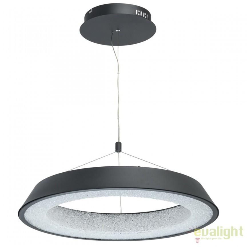 Pendul LED design moden Volker 60cm, negru mat 703010901 MW, Lustre LED, Pendule LED, Corpuri de iluminat, lustre, aplice, veioze, lampadare, plafoniere. Mobilier si decoratiuni, oglinzi, scaune, fotolii. Oferte speciale iluminat interior si exterior. Livram in toata tara.  a