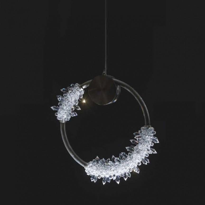 Lustra LED moderna design LUX cristal SPARKLING FROST 35cm, Lustre LED, Pendule LED, Corpuri de iluminat, lustre, aplice, veioze, lampadare, plafoniere. Mobilier si decoratiuni, oglinzi, scaune, fotolii. Oferte speciale iluminat interior si exterior. Livram in toata tara.  a