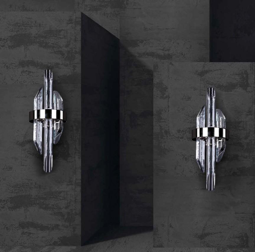 Aplica LED moderna design LUX cristal QUARTZ 01, ILUMINAT INTERIOR LED , Corpuri de iluminat, lustre, aplice, veioze, lampadare, plafoniere. Mobilier si decoratiuni, oglinzi, scaune, fotolii. Oferte speciale iluminat interior si exterior. Livram in toata tara.  a