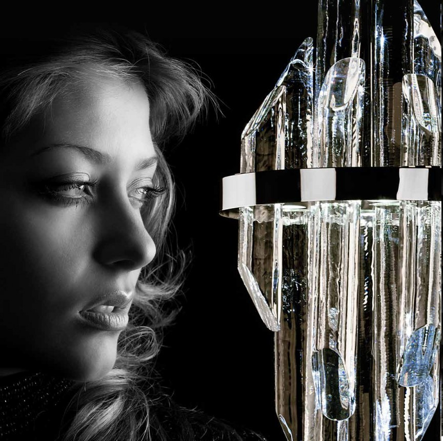 Lustra LED moderna design LUX cristal QUARTZ 03, 38cm, Lustre LED, Pendule LED, Corpuri de iluminat, lustre, aplice, veioze, lampadare, plafoniere. Mobilier si decoratiuni, oglinzi, scaune, fotolii. Oferte speciale iluminat interior si exterior. Livram in toata tara.  a