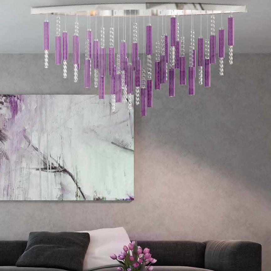 Lustra LED moderna design LUX Flare 03, Lustre LED, Pendule LED, Corpuri de iluminat, lustre, aplice, veioze, lampadare, plafoniere. Mobilier si decoratiuni, oglinzi, scaune, fotolii. Oferte speciale iluminat interior si exterior. Livram in toata tara.  a