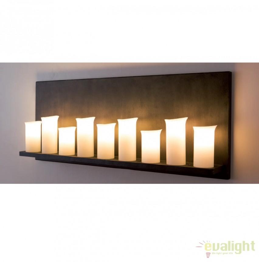 Aplica din fier forjat cu 9 surse de lumina, WL 3576, Candelabre si Lustre moderne elegante⭐ modele clasice de lux pentru living, bucatarie si dormitor.✅ DeSiGn actual Top 2020!❤️Promotii lampi❗ ➽ www.evalight.ro. Oferte corpuri de iluminat suspendate pt camere de interior (înalte), suspensii (lungi) de tip lustre si candelabre, pendule decorative stil modern, clasic, rustic, baroc, scandinav, retro sau vintage, aplicate pe perete sau de tavan, cu cristale, abajur din material textil, lemn, metal, sticla, bec Edison sau LED, ieftine de calitate deosebita la cel mai bun pret. a