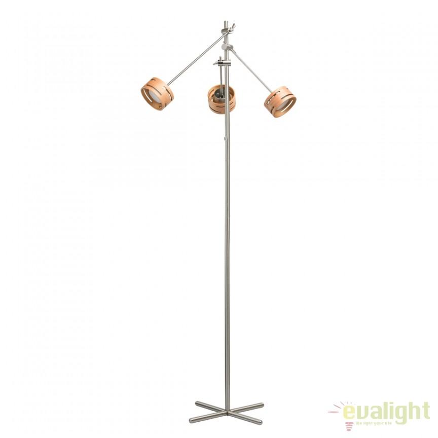 Lampadar design modern LED REGEN nickel 725040703 MW, Veioze LED, Lampadare LED, Corpuri de iluminat, lustre, aplice, veioze, lampadare, plafoniere. Mobilier si decoratiuni, oglinzi, scaune, fotolii. Oferte speciale iluminat interior si exterior. Livram in toata tara.  a