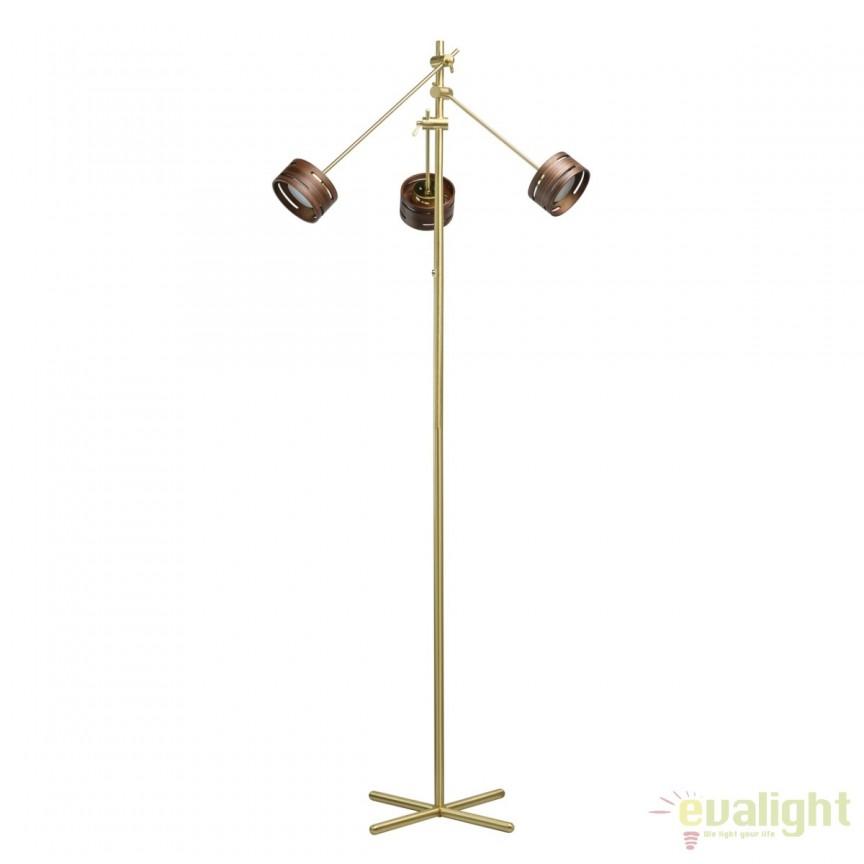 Lampadar LED design modern REGEN, auriu satinat 725040803 MW, Cele mai noi produse 2018 a