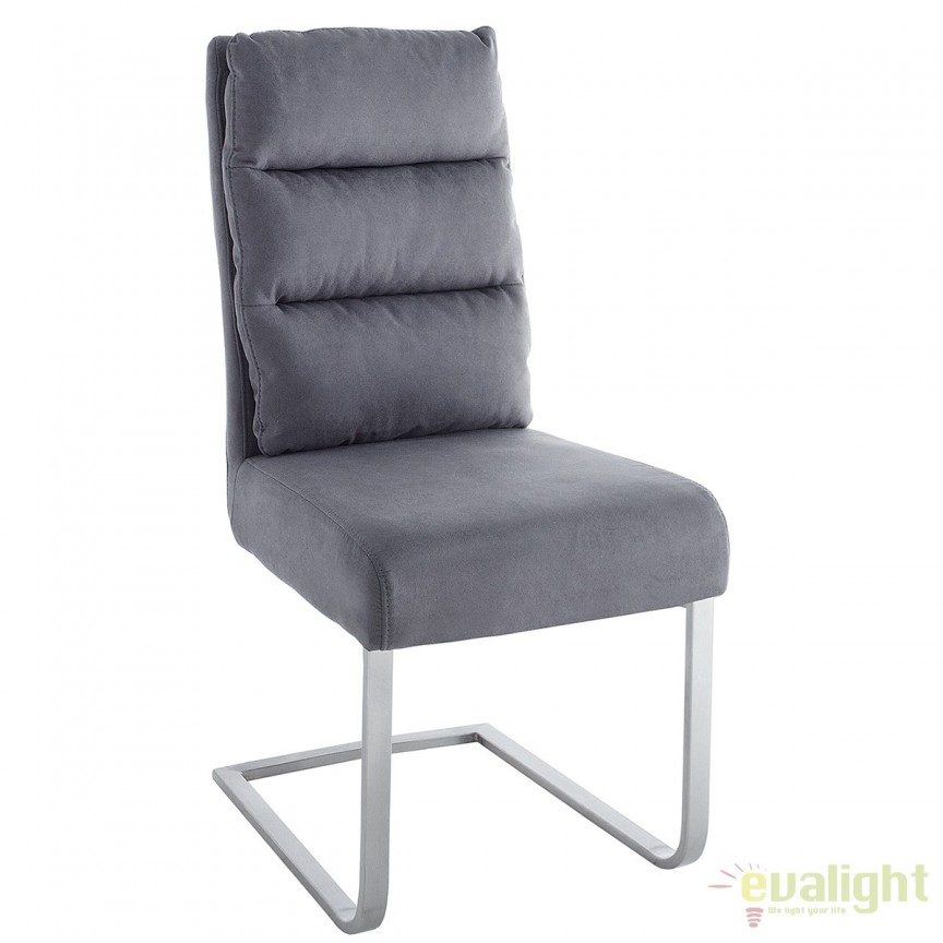 Set de 4 scaune elegante cu tapiterie din microfibra, Comfort Vintage gri A-38394 VC, Seturi scaune dining, scaune HoReCa, Corpuri de iluminat, lustre, aplice, veioze, lampadare, plafoniere. Mobilier si decoratiuni, oglinzi, scaune, fotolii. Oferte speciale iluminat interior si exterior. Livram in toata tara.  a