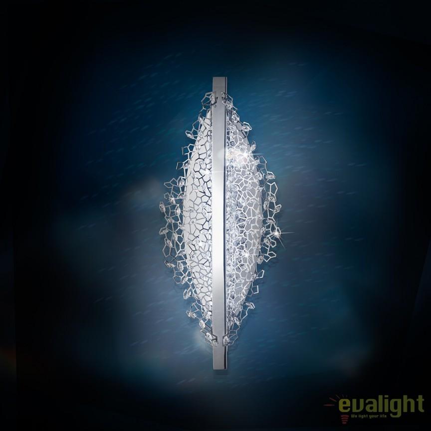 Aplica eleganta LUX, cristale Swarovski, LED 3000K, Amaca 51cm SHK400 , Aplice Cristal Swarovski, Corpuri de iluminat, lustre, aplice, veioze, lampadare, plafoniere. Mobilier si decoratiuni, oglinzi, scaune, fotolii. Oferte speciale iluminat interior si exterior. Livram in toata tara.  a
