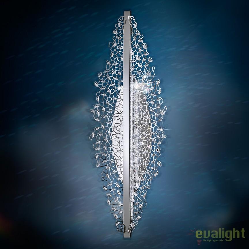 Aplica eleganta LUX, cristale Swarovski, LED 3000K, Amaca 76cm SHK500 , Aplice Cristal Swarovski, Corpuri de iluminat, lustre, aplice, veioze, lampadare, plafoniere. Mobilier si decoratiuni, oglinzi, scaune, fotolii. Oferte speciale iluminat interior si exterior. Livram in toata tara.  a