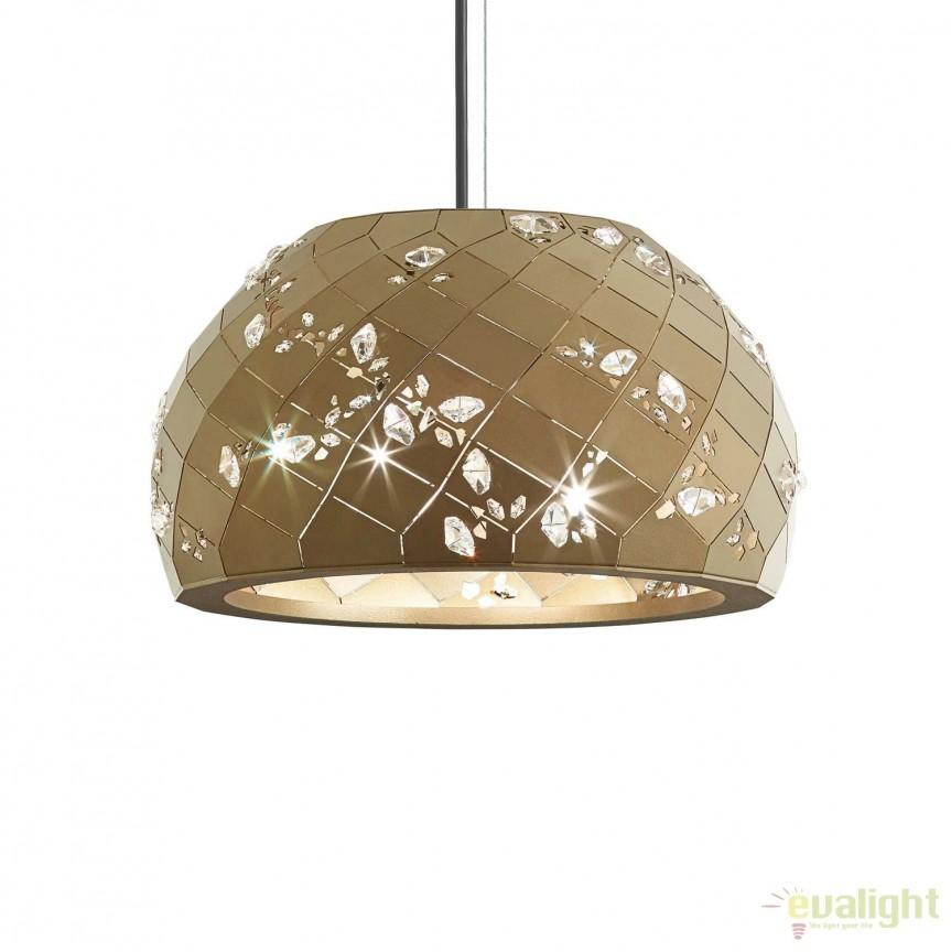 Pendul, Lustra design LUX cristal Swarovski Apta, 36cm APT800E-BR1S, Magazin, Corpuri de iluminat, lustre, aplice, veioze, lampadare, plafoniere. Mobilier si decoratiuni, oglinzi, scaune, fotolii. Oferte speciale iluminat interior si exterior. Livram in toata tara.  a