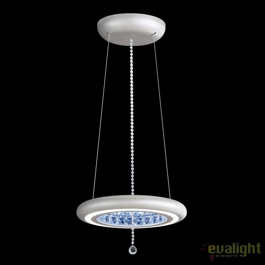 Lustra LUX, cristale Swarovski, iluminat LED Infinite Aura 38cm MFC100E-S1IS-Glimmer Silver, Lustre Cristal Swarovski , Corpuri de iluminat, lustre, aplice, veioze, lampadare, plafoniere. Mobilier si decoratiuni, oglinzi, scaune, fotolii. Oferte speciale iluminat interior si exterior. Livram in toata tara.  a