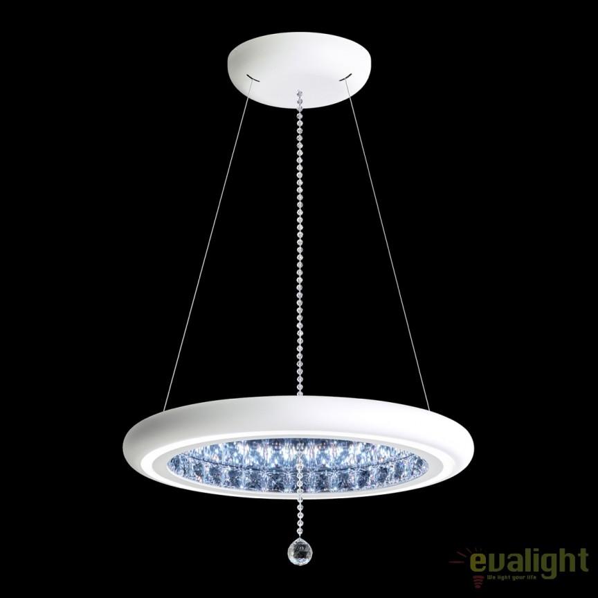 Lustra eleganta design LUX, cristale Swarovski, iluminat LED, Infinite Aura 57cm MFC200E-WH1S-White, Magazin, Corpuri de iluminat, lustre, aplice, veioze, lampadare, plafoniere. Mobilier si decoratiuni, oglinzi, scaune, fotolii. Oferte speciale iluminat interior si exterior. Livram in toata tara.  a