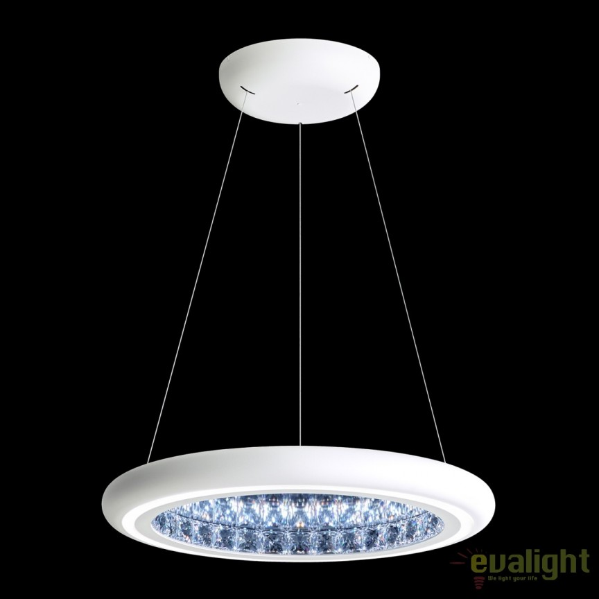 Lustra eleganta design LUX, cristale Swarovski, iluminat LED, Infinite Aura 57cm MFC201E-WH1S-White, Magazin, Corpuri de iluminat, lustre, aplice, veioze, lampadare, plafoniere. Mobilier si decoratiuni, oglinzi, scaune, fotolii. Oferte speciale iluminat interior si exterior. Livram in toata tara.  a
