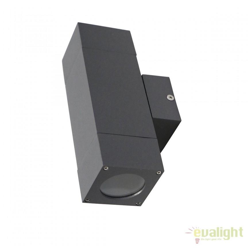 Aplica LED iluminat exterior IP65 KOPYO II gri 112276 SU, Aplice de exterior moderne⭐ lampi de perete pentru iluminat exterior terasa casa si gradina.✅Design cu LED decorativ 2021!❤️Promotii online❗ Magazin➽www.evalight.ro. Alege oferte la corpuri de iluminat exterior rezistente la apa tip spoturi aplicate pt perete sau tavan, metalice, abajur din sticla cu decor ornamental, bec LED si lumina ambientala, ieftine si de lux, calitate deosebita la cel mai bun pret. a