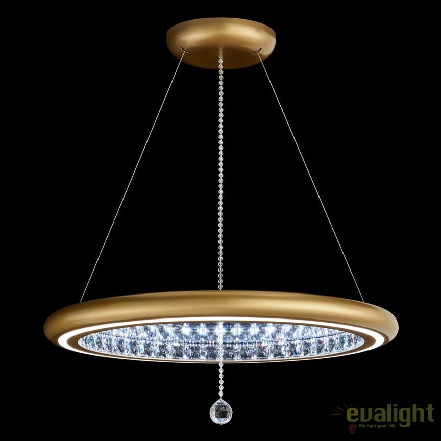Lustra eleganta design LUX, cristale Swarovski, iluminat LED, Infinite Aura 76cm MFC300E-GD1S-Glimmer Gold , Lustre Cristal Swarovski , Corpuri de iluminat, lustre, aplice, veioze, lampadare, plafoniere. Mobilier si decoratiuni, oglinzi, scaune, fotolii. Oferte speciale iluminat interior si exterior. Livram in toata tara.  a