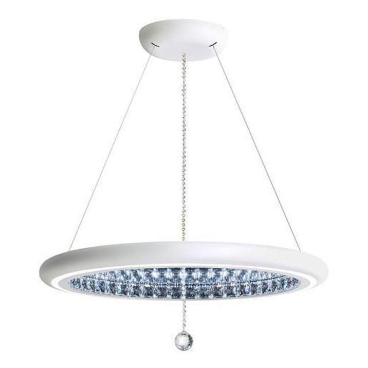 Lustra eleganta design LUX, cristale Swarovski, iluminat LED, Infinite Aura 76cm MFC300E-WH1S-White,  a