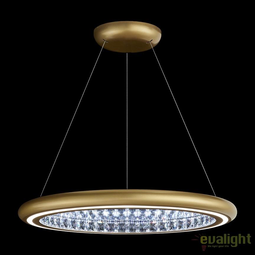 Lustra eleganta design LUX, cristale Swarovski, iluminat LED, Infinite Aura 76cm MFC301E-GD1S-Glimmer Gold , Magazin, Corpuri de iluminat, lustre, aplice, veioze, lampadare, plafoniere. Mobilier si decoratiuni, oglinzi, scaune, fotolii. Oferte speciale iluminat interior si exterior. Livram in toata tara.  a