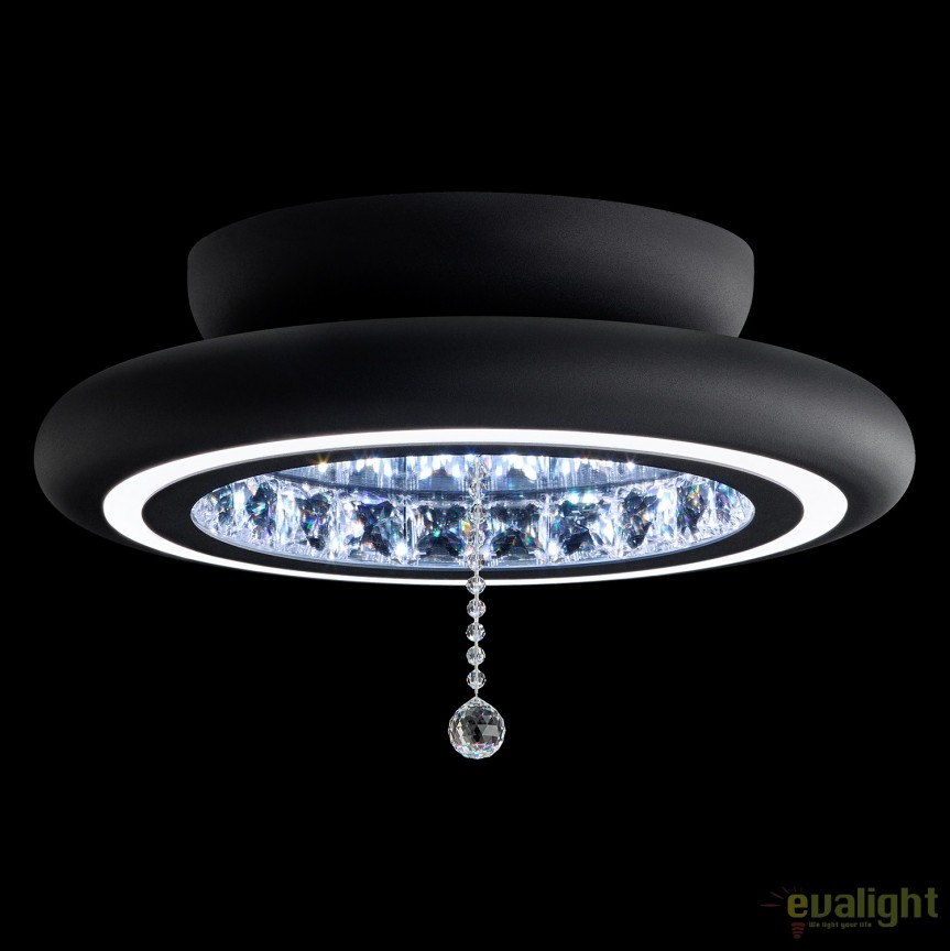 Lustra LUX aplicata, cristale Swarovski, iluminat LED, Infinite Aura 38cm MFC120E-BK1S-Black, Plafoniere Cristal Swarovski, Corpuri de iluminat, lustre, aplice, veioze, lampadare, plafoniere. Mobilier si decoratiuni, oglinzi, scaune, fotolii. Oferte speciale iluminat interior si exterior. Livram in toata tara.  a