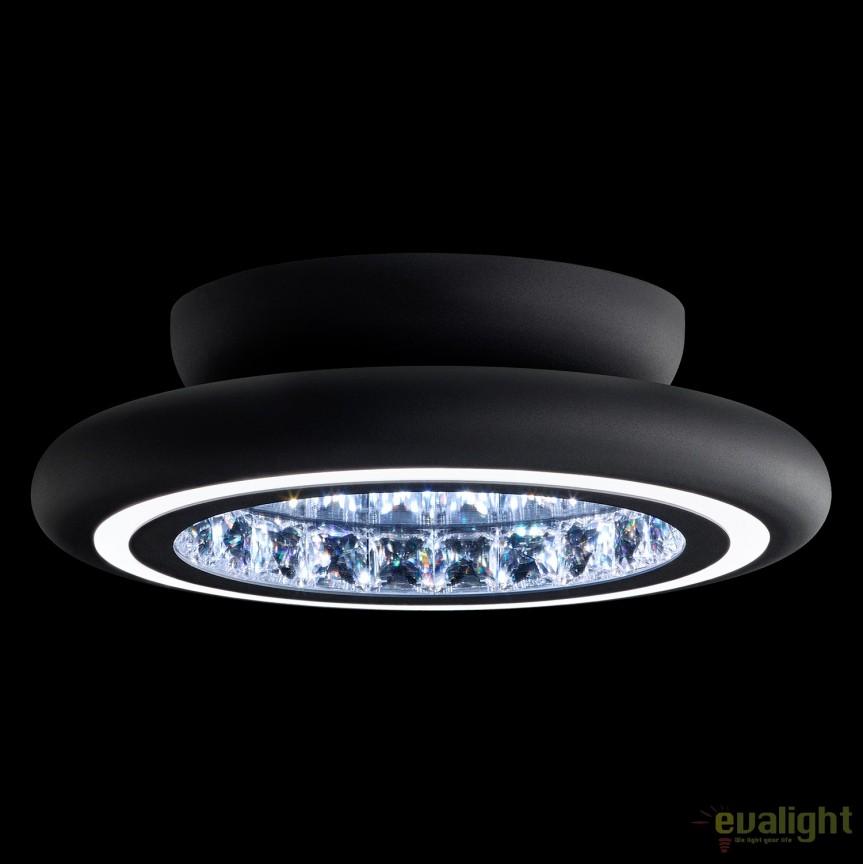 Lustra LUX aplicata, cristale Swarovski, iluminat LED, Infinite Aura 38cm MFC121E-BK1S-Black, Plafoniere Cristal Swarovski, Corpuri de iluminat, lustre, aplice, veioze, lampadare, plafoniere. Mobilier si decoratiuni, oglinzi, scaune, fotolii. Oferte speciale iluminat interior si exterior. Livram in toata tara.  a