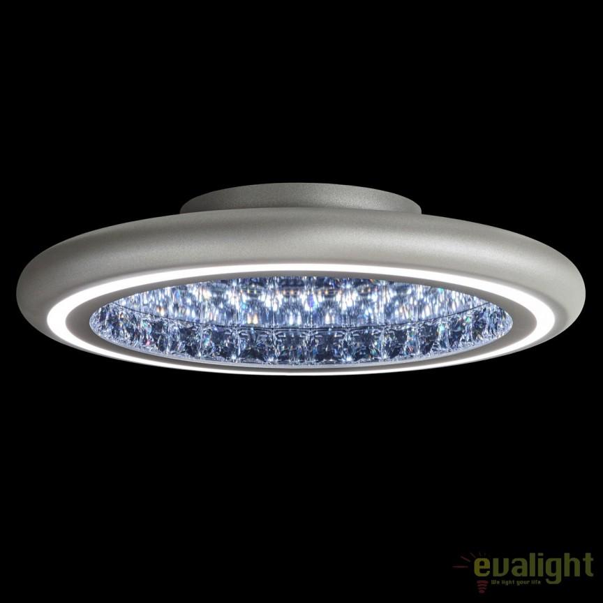 Lustra LUX aplicata, cristale Swarovski, iluminat LED, Infinite Aura 57cm MFC221E-S1IS-Glimmer Silver, Plafoniere Cristal Swarovski, Corpuri de iluminat, lustre, aplice, veioze, lampadare, plafoniere. Mobilier si decoratiuni, oglinzi, scaune, fotolii. Oferte speciale iluminat interior si exterior. Livram in toata tara.  a