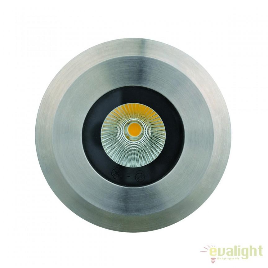 Spot LED incastrabil de exterior pavaj CobSoil Round 3W 3000K 111197 SU, Iluminat exterior incastrabil , Corpuri de iluminat, lustre, aplice, veioze, lampadare, plafoniere. Mobilier si decoratiuni, oglinzi, scaune, fotolii. Oferte speciale iluminat interior si exterior. Livram in toata tara.  a
