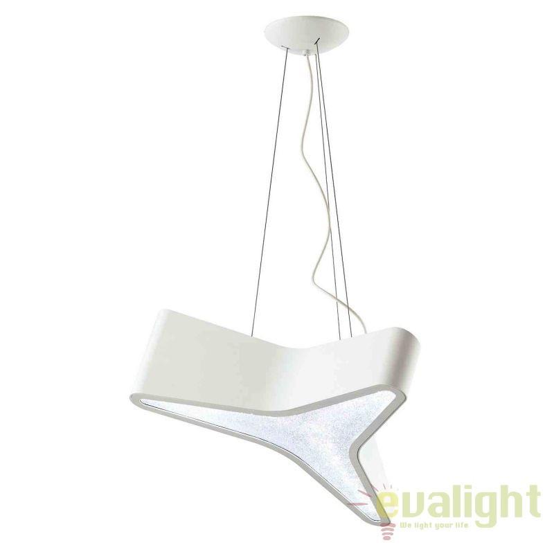 Lustra design LUX cristal Swarovski Trimini, LED 3000K SBT120E-WH1S-white, Magazin, Corpuri de iluminat, lustre, aplice, veioze, lampadare, plafoniere. Mobilier si decoratiuni, oglinzi, scaune, fotolii. Oferte speciale iluminat interior si exterior. Livram in toata tara.  a