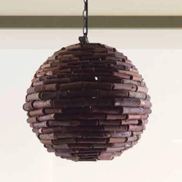 Lustra / Pendul design natural P001 BALL TAK 77-3601 HL, ILUMINAT INTERIOR RUSTIC, Corpuri de iluminat, lustre, aplice, veioze, lampadare, plafoniere. Mobilier si decoratiuni, oglinzi, scaune, fotolii. Oferte speciale iluminat interior si exterior. Livram in toata tara.  a