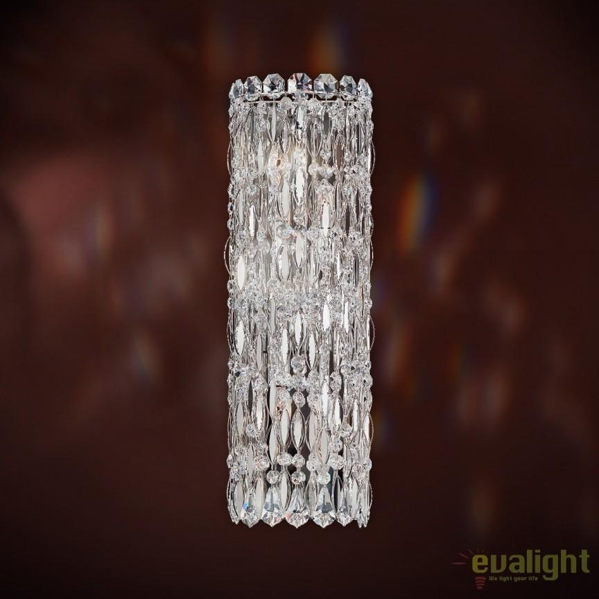 Aplica design LUX cristal Heritage, Sarella RS8331E-401H-Stainless Steel, Magazin, Corpuri de iluminat, lustre, aplice, veioze, lampadare, plafoniere. Mobilier si decoratiuni, oglinzi, scaune, fotolii. Oferte speciale iluminat interior si exterior. Livram in toata tara.  a
