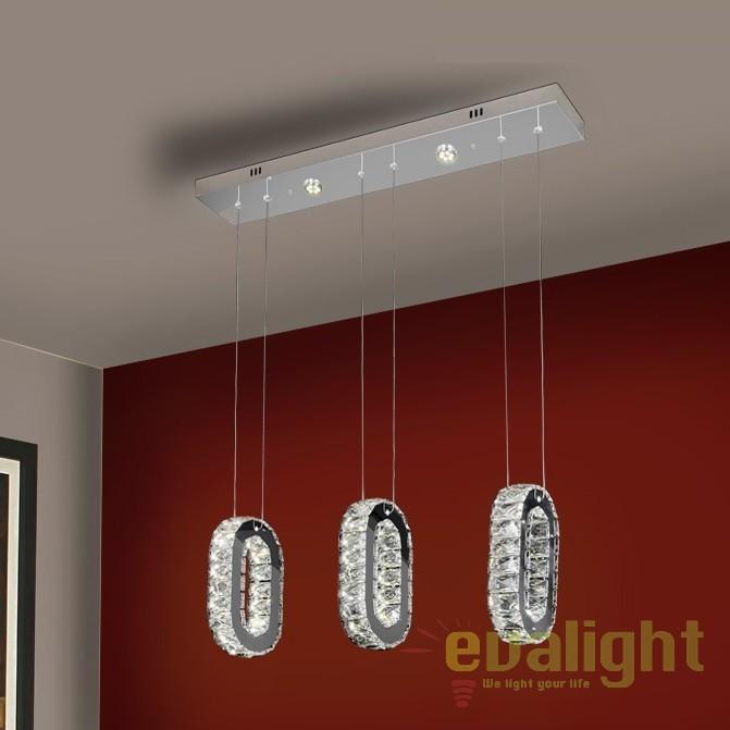 Lustra LED design modern cu 3 pendule Orbia SV-538641, Lustre LED, Pendule LED, Corpuri de iluminat, lustre, aplice, veioze, lampadare, plafoniere. Mobilier si decoratiuni, oglinzi, scaune, fotolii. Oferte speciale iluminat interior si exterior. Livram in toata tara.  a