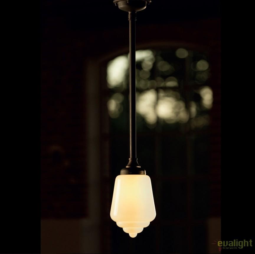 Lustra, Pendul din fier forjat si sticla HL 2641, Lustre, Candelabre Fier Forjat, Corpuri de iluminat, lustre, aplice, veioze, lampadare, plafoniere. Mobilier si decoratiuni, oglinzi, scaune, fotolii. Oferte speciale iluminat interior si exterior. Livram in toata tara.  a