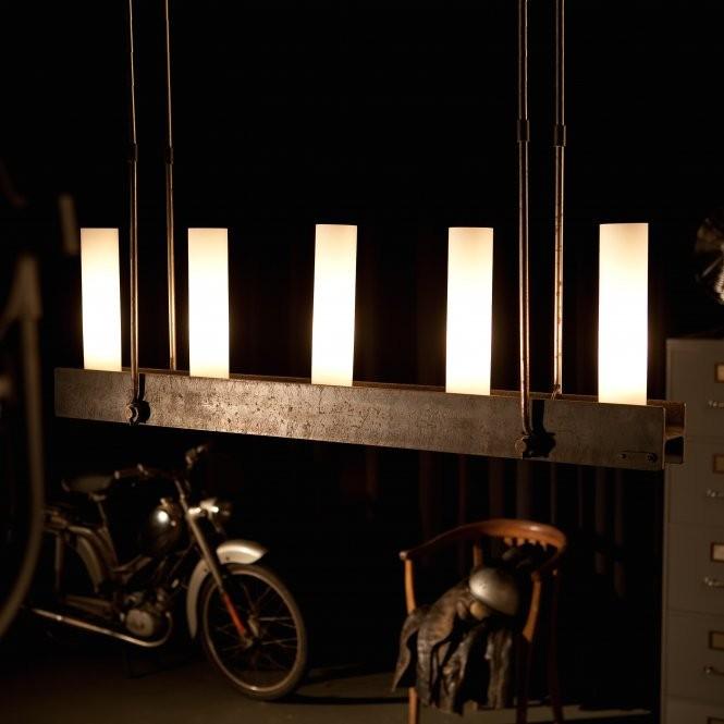 Candelabru din fier forjat cu 5 surse de lumina, design industrial HL 2547, Lustre, Candelabre Fier Forjat,  a